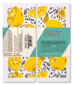 Groovy Goods Ökologisches Schwammtuch, , White, Lemon 10x1Stück