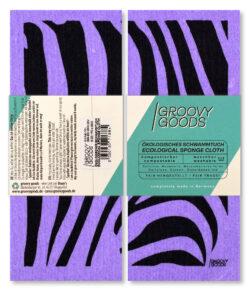Groovy Goods Ökologisches Schwammtuch, , Purple, Zebra 10x1Stück