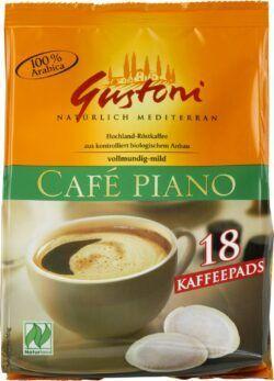 Gustoni Café piano Kaffee-Pads, vollmundig-mild 10x126g