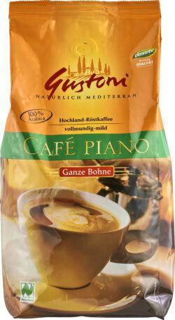 Gustoni Café piano, ganze Bohne, vollmundig-mild 1kg