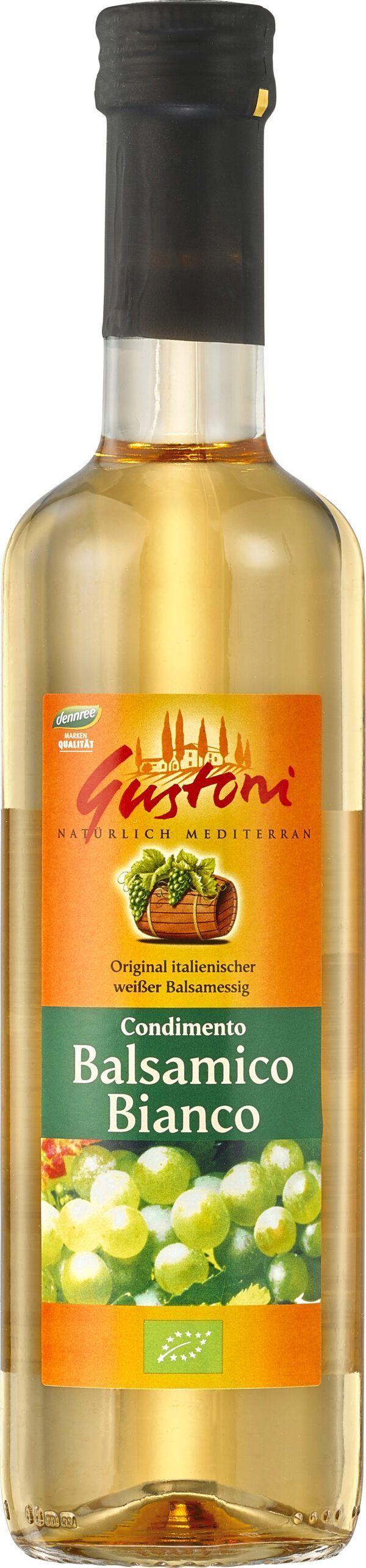 Gustoni Condimento Balsamico Bianco, original italienischer weißer Balsamessig, 5,4% Säure 6x500ml