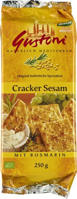 Gustoni Cracker Sesam mit Rosmarin 12x250g