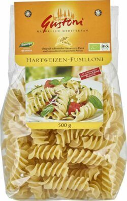 Gustoni Hartweizen-Fusilloni, Original italienische Hartweizen-Pasta 12x500g