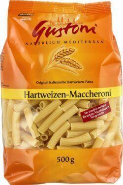Gustoni Hartweizen-Maccheroni, Original italienische Hartweizen-Pasta 12x500g