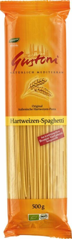 Gustoni Hartweizen-Spaghetti, Original italienische Hartweizen-Pasta 12x500g
