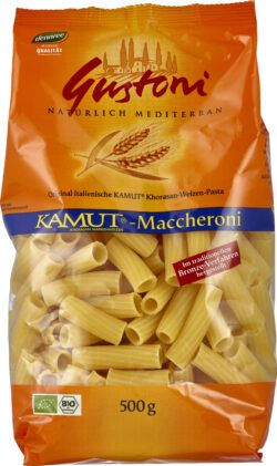 Gustoni KAMUT®-Maccheroni, Original italienische KAMUT®-Pasta 12x500g