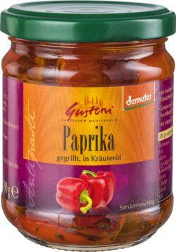 Gustoni Paprika gegrillt, in Kräuteröl 6x190g