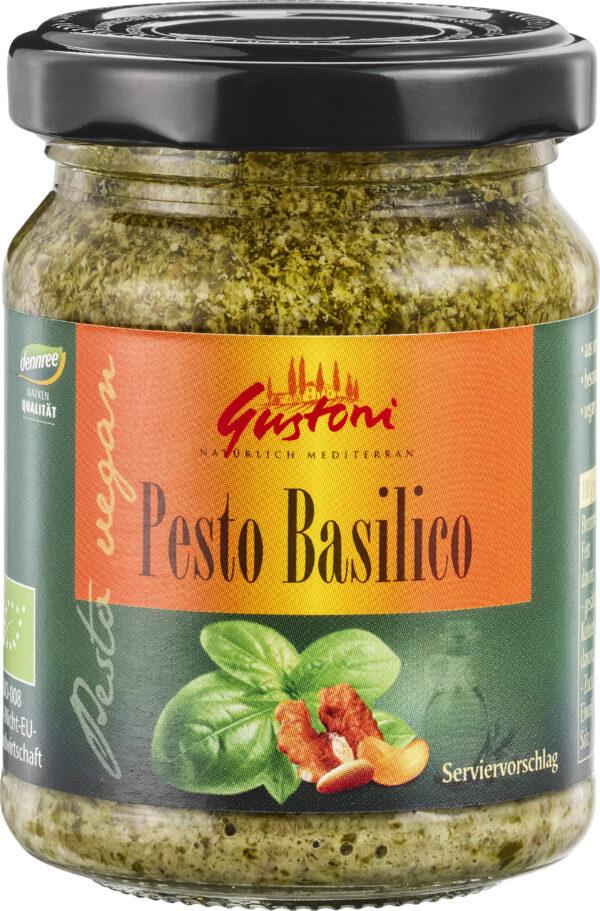 Gustoni Pesto Basilico, vegan 12x125g