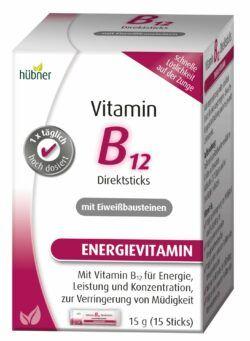 Hübner Vitamin B12 Direktsticks mit Eiweißbausteinen 15g