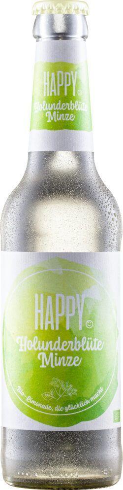 HAPPY Bio-Limonade Holunderblüte Minze 10x0,33l