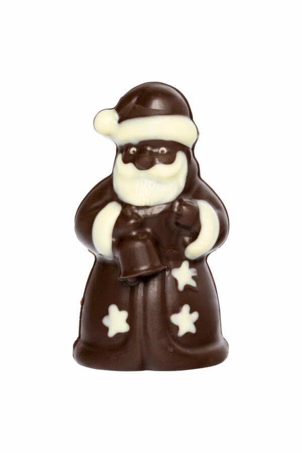 HEIDI Chocolaterie Suisse Weihnachtsmann im Sternenkleid, Zartbitter- & weisse Schokolade 12x50g