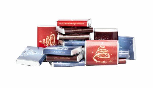 HEIDI Chocolaterie Suisse Weihnachts-Napolitains, Vollmilch- und Zartbitterschokolade 12x90g