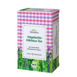 HERBARIA Hagebutte-Hibiskus-Tee bio 15 Filterbeutel 6x30g