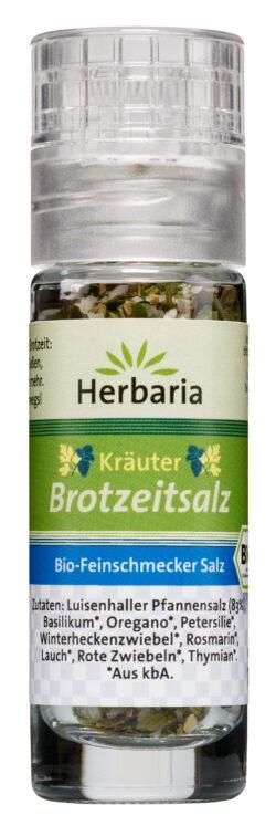HERBARIA Kräuter Brotzeitsalz bio Mini-Mühle 13g