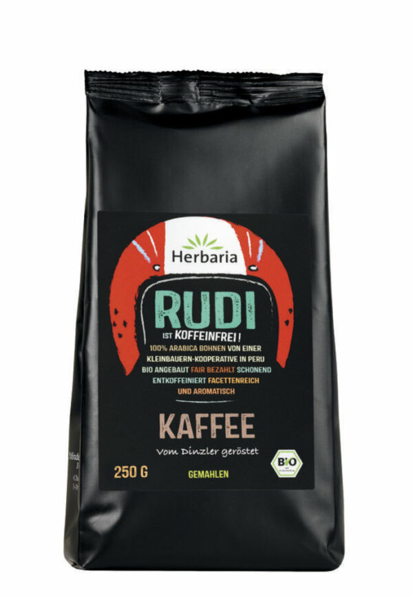 HERBARIA Rudi Kaffee entkoffeiniert gemahlen bio 250g