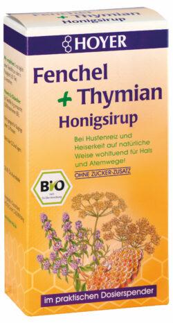 HOYER Fenchel + Thymian Honigsirup 5x250g