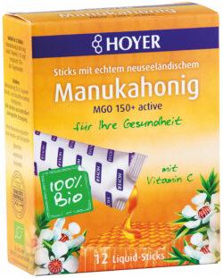 HOYER Manukahonig Liquid-Sticks MGO 150+ 5x12Stück