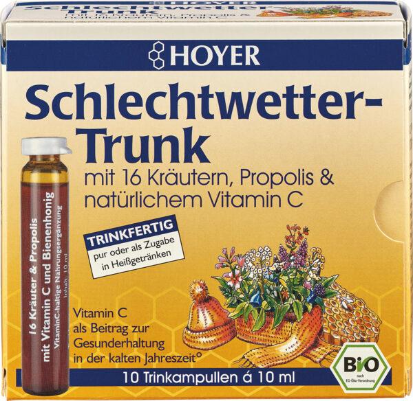 HOYER Schlechtwetter-Trunk Trinkampullen 100ml