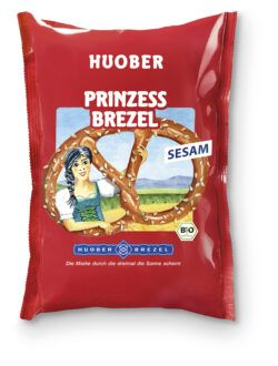 HUOBER BREZEL HUOBER Prinzess Brezel mit Sesam 12x125g