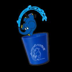 HYDROPHIL Kinder Zahnputzbecher Elefant 6x1Stück