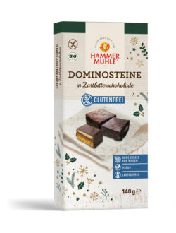 Hammermühle Bio Dominosteine in Zartbitterschokolade gf, vegan 6x140g
