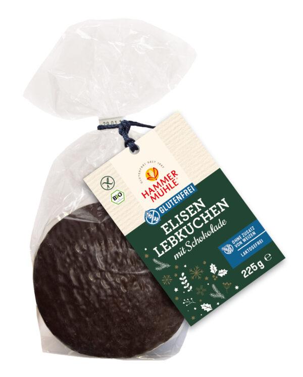 Hammermühle Bio Elisenlebkuchen in Zartbitterschokolade, 3 Stück, gf 6x225g