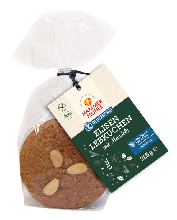 Hammermühle Bio Elisenlebkuchen mit Mandeln, 3 Stück, gf 6x225g