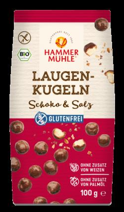 Hammermühle Bio Laugenkugeln Schoko & Salz gf 10x100g