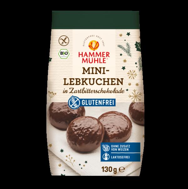 Hammermühle Bio Mini-Lebkuchen mit Zartbitterschokolade, gf 8x130g