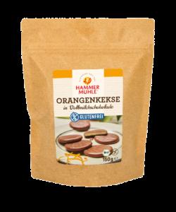Hammermühle Bio Orangenkekse in Vollmilchschokolade gf 150g