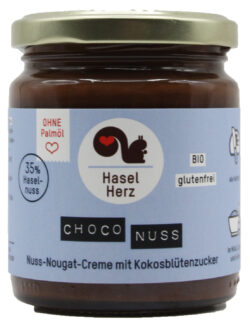 HaselHerz Choco Nuss glutenfrei gesüsst mit Kokosblütenzucker 6x220g