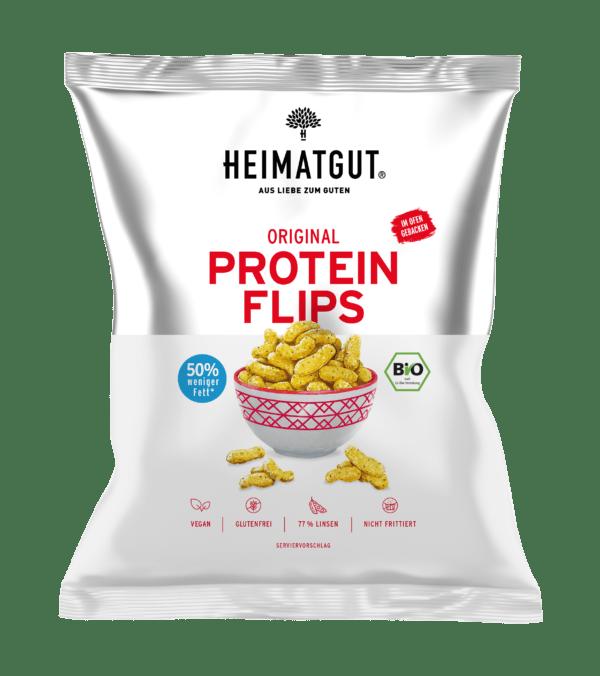 Heimatgut Bio Protein Flips Original, glutenfrei 6x75g