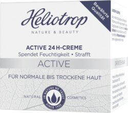 Heliotrop Active 24h- Creme, spendet der Haut 24 Stunden Feuchtigkeit, mildert Fältchen, z 50ml