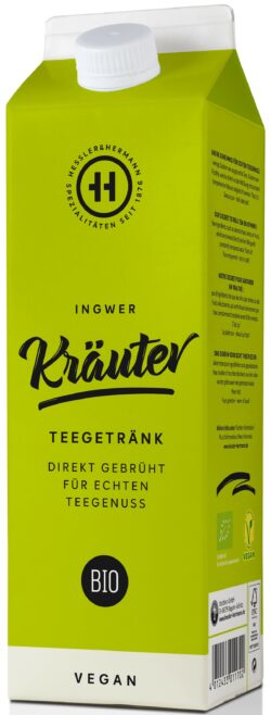 Hessler & Herrmann BIO Kräuterteegetränk Zitronengras Ingwer 8x1l
