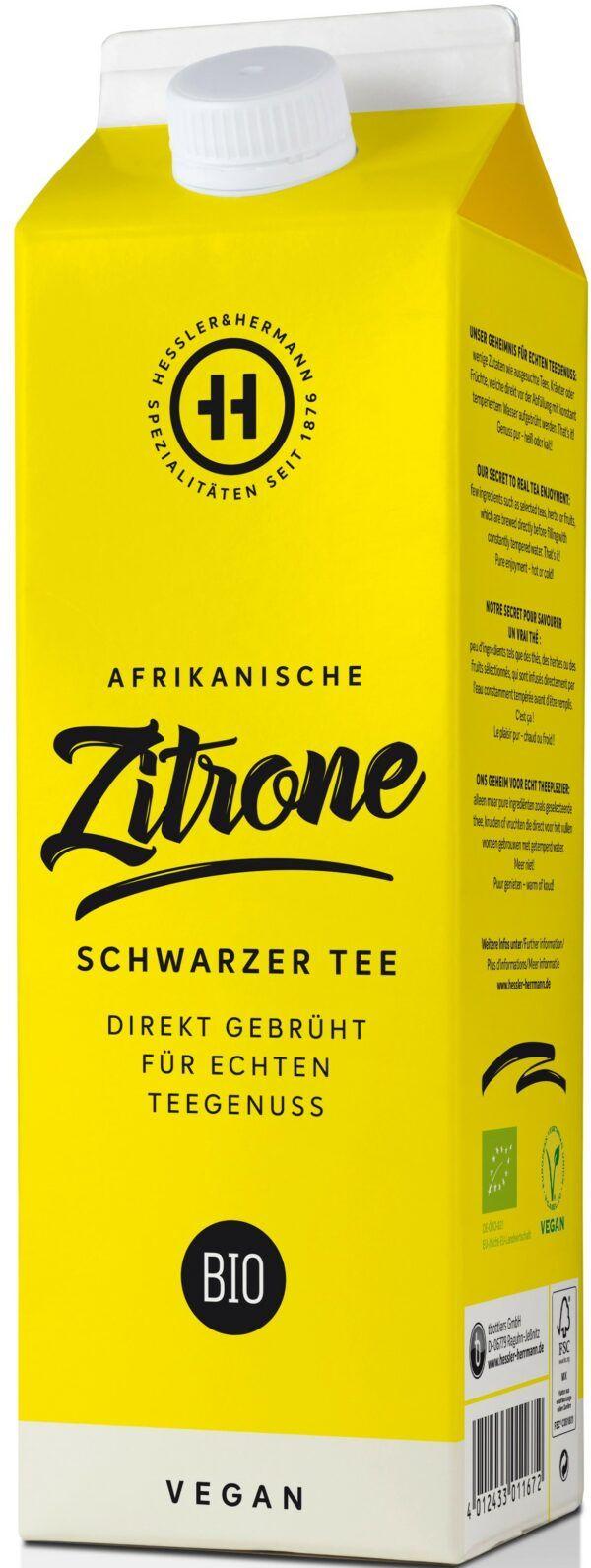 Hessler & Herrmann BIO Schwarzteegetränk Afrikanische Zitrone 8x1l