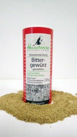 Heuschrecke Bittergewürz, Bertrand Heidelberger, gemahlen, kbA 5x20g