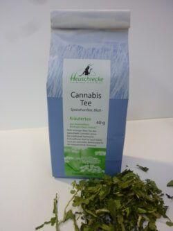 Heuschrecke Cannabis Tee, Hanftee, grün, Speisehanf, kbA 5x40g