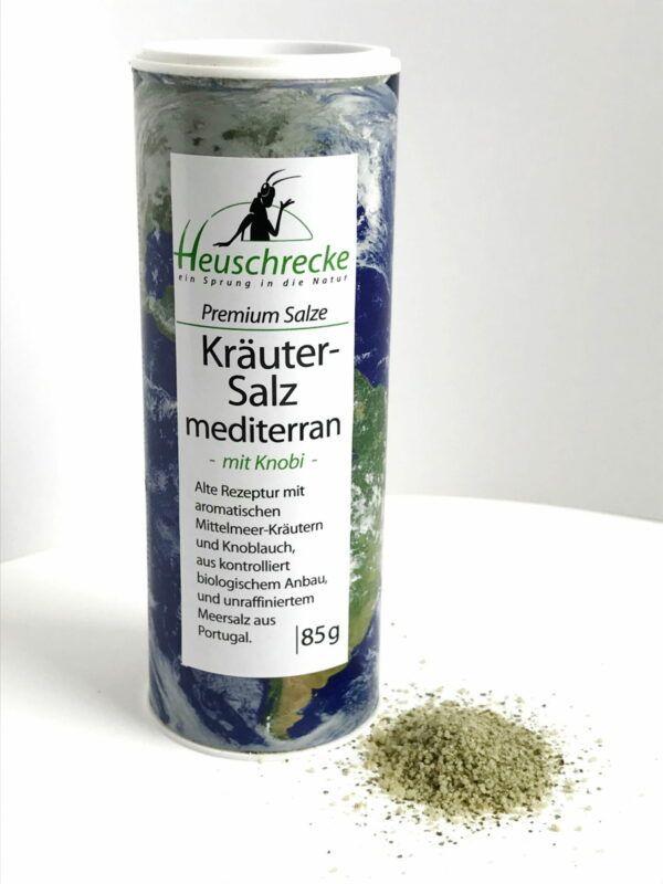 Heuschrecke Kräutersalz mediterran, Premium, kbA, Dose 5x85g