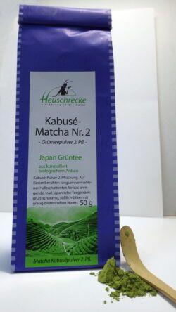 Heuschrecke Matcha Kabusé Nr.2 Halbschatten- Grünteepulver, kbA 50g