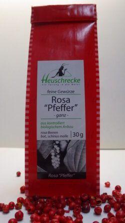 Heuschrecke 'Pfeffer' rosa, ganz, rosa Beeren, kbA 5x30g
