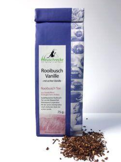 Heuschrecke Rooibusch Vanille, Premium mit echter Vanille, kbA 5x75g