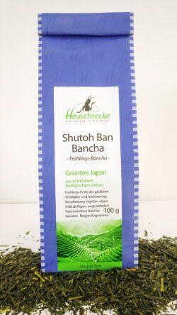 Heuschrecke Shutoh-Ban Japan Ban-Cha, Grüntee kbA 5x100g