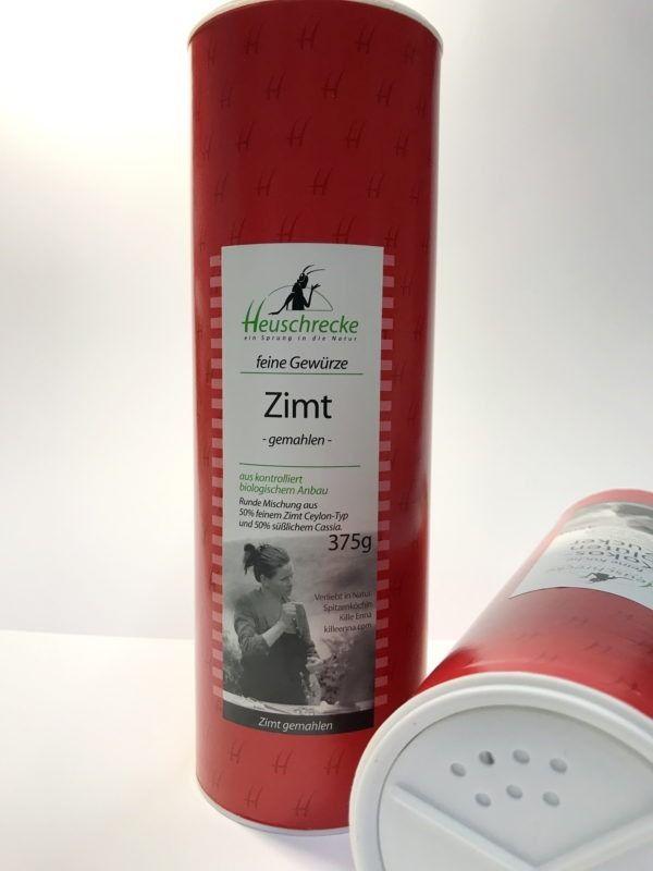 Heuschrecke Zimt, gemahlen, Mischung Ceylon und Cassia Zimt, Gastro, kbA 375g