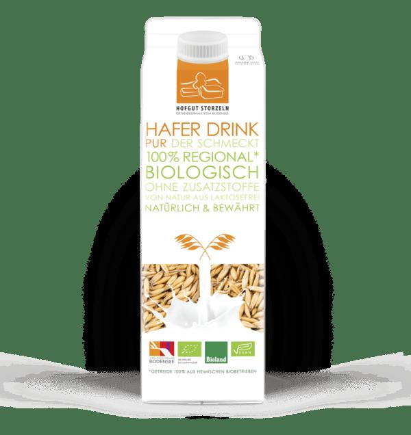 Hofgut Storzeln Bio Hafer Drink, 1l, , Bioland zertifiziert, aus deutschem Bio Hafer hergestellt 10x1l