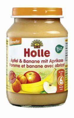 Holle Apfel & Banane mit Aprikose 6x190g