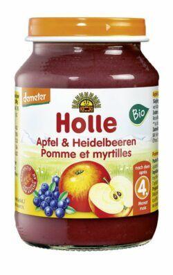 Holle Apfel & Heidelbeeren 6x190g