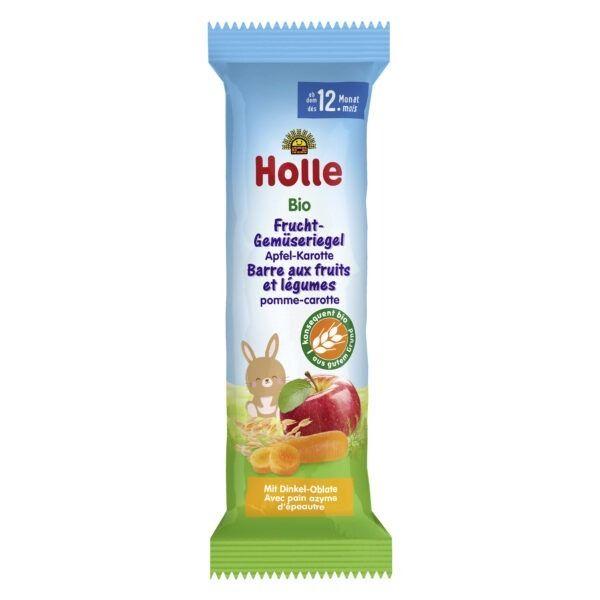 Holle Bio-Frucht-Gemüseriegel Apfel-Karotte 20x25g
