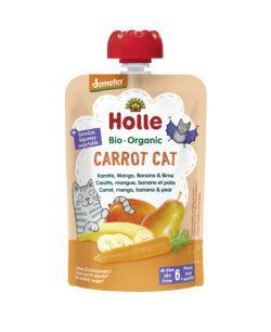 Holle  Carrot Cat - Pouchy Karotte, Mango, Banane & Birne 12x100g