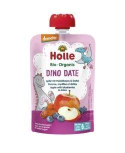 Holle  Dino Date - Pouchy Apfel Heidelbeere Dattel 12x100g