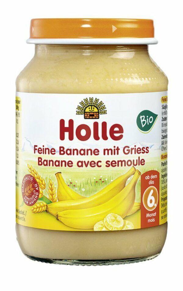 Holle  Feine Banane mit Griess 190g